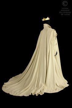 Thierry Mugler, costume for Macbeth, black ottoman trousers, white ottoman cloak, from Shakespeare's Macbeth, Carlo Tommasi, 1985