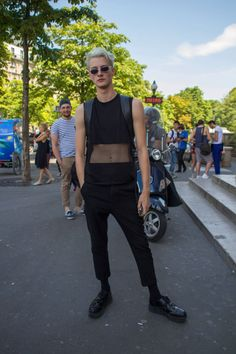 Benjamin Jarvis at PFW S/S 2015 by Marion Hassan
