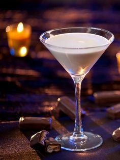 The Halloween entertaining experts at HGTV.com share a Milky Way martini recipe for your Halloween party.