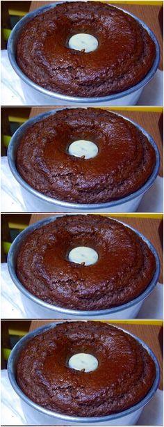 O bolo de chocolate mais fácil do mundo, basta misturar os ingredientes,  #receita#bolo#torta#doce#sobremesa#aniversario#pudim#mousse#pave#Cheesecake#chocolate#confeitaria# Coco, Doughnut, Buffet, Deserts, Easy Meals, Food And Drink, Banana, Sweets, Cooking