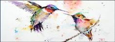 Hummingbirds~ #Watercolor facebook cover photo