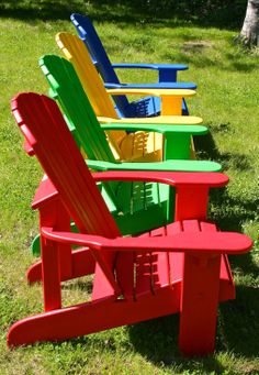 Western red cedar Adirondack chairs making a bold statement