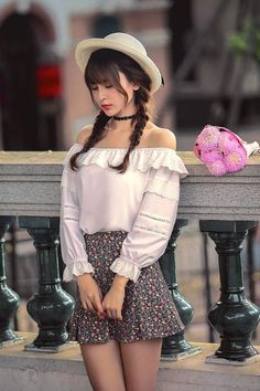 Japanese fashion lace 7 points shirt - AddOneClothing - 4