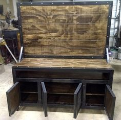 industrial media console/cabinet with flat screen tv by IndustEvo