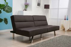 Furniture Leather Sofa With Stainless Steel Legs And Shag Rug Determining the Stunning Sofa for Sale With the Original Leather Material
