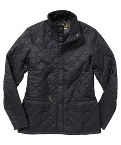 Mens Barbour Fell Quilted Jacket - Olive