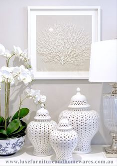[New] The 10 Best Home Decor (with Pictures) - Bring the Hamptons into your home with our stunning new black or white framed faux sea fans! Shop online anytime with Australia wide delivery & Afterpay! Hamptons Style Decor, The Hamptons, Home Living Room, Living Room Decor, Ginger Jars, White Decor, Home Accessories, Diy Home Decor, Interior Design