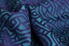 Yaro Slings Braid Violet Blue Linen Wrap (linen)