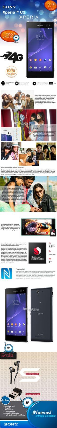 Sony Xperia C3 - Quad Core - Wifi - Gps - Nfc + R E G A L O