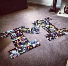 Good idea w/ different letter Block M photo collage! From hashtagmaggie on Tumblr