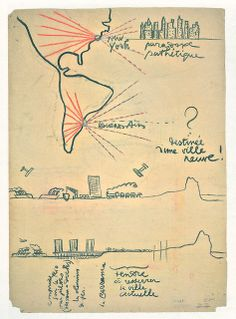 Le Corbusier - Croquis para Plan de Buenos Aires | Flickr: Intercambio de fotos