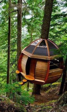 More ideas below: Amazing Tiny treehouse kids Architecture Modern Luxury treehouse interior cozy Bac Gazebo, Pergola, Cool Tree Houses, Cozy Backyard, Tree House Designs, Tree Tops, In The Tree, Awesome Bedrooms, Modern Luxury