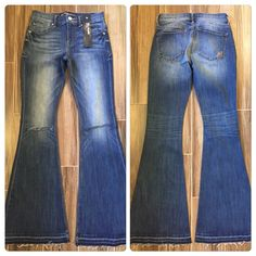 Spotted while shopping on Poshmark: Express Distressed Flare Jeans size 4 NWT! #poshmark #fashion #shopping #style #Express #Denim