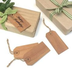 Wooden Gift Tags by Jane Means
