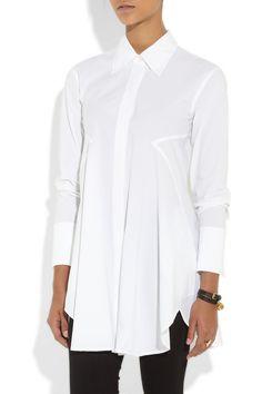 Donna Karan|Oversized stretch-cotton poplin shirt|NET-A-PORTER.COM