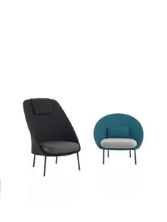 Two different armchairs, same DNA. Two different finishes: 3D Mesh and Batyline Senso. Outdoor seating collection by MUT Design. Year: 2015.