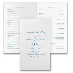 Designed White Wedding Program