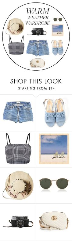 """""""WARM WEATHER"""" by marta-isabella ❤ liked on Polyvore featuring Levi's, Bionda Castana, Betsey Johnson, Ray-Ban and Gucci"""