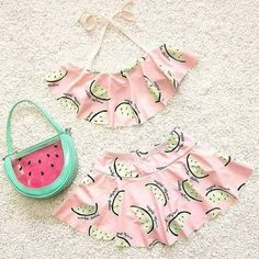 swimsuit wholesale on sale at reasonable prices, buy Cute Melon Spring Summer Skirt Girls Swimwear Two Pieces Kids Clothes Bathing Suits Children Swimsuits DBO from mobile site on Aliexpress Now! Trendy Swimwear, Kids Swimwear, Cute Swimsuits, Summer Swimwear, Baby Girls, Kids Girls, Toddler Girl, Kids Bathing Suits, Kids Outfits