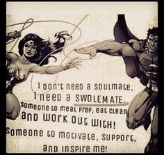 Super hero Swolemate gym couples