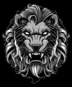 Finished/approved piece. Gonna miss it, learned a lot on this while trying out and refining new approaches. #lion #vector #illustration #adobeillustrator #sweyda #predator