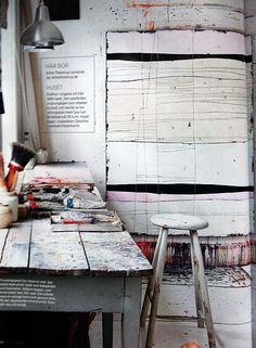 Would love to incorporate ideas from this into an art studio area for a teen (via Styling Love / Anne Tholstrups studio)