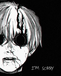 Tokyo Ghoul/// I cry everytime don't be sorry kaneki Manga Anime, Dark Anime, Tokyo Ghoul Anime, Dark Fantasy, Anime Lovers, Dark Art, Horror, Manga