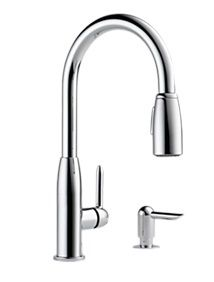 Zoomed: Peerless Chrome Pull Down Kitchen Faucet