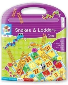 Childrens Travel Traditional Game Magnetic Set Snakes & Ladders: Amazon.co.uk: Toys & Games