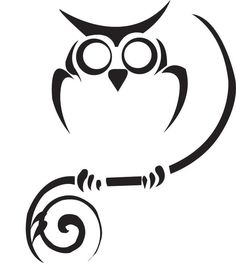 Tribal Owl Tattoo Design Picture 1. Patience and courage to look into the darkness without fear Tattoo Ideas, Tribal Tattoos, Tribal Owl Tattoo, Owl Outline, Tribal Art, Tattoo Design, Draw Owls, Owl Tattoos