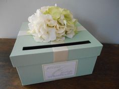 Custom Wedding Card Box Mint Green Wedding by astylishdesign
