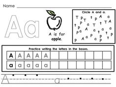 This file has a page for each letter of the alphabet. Students color the letter, read a sentence about the letter and sound, find the focus letter, and practice writing the letter. These practice pages would be great as morning work, homework, literacy center, or during word work. These can be used as regular worksheets; they can also be printed and placed in sheet protectors to use in a center. Students love doing these papers over and over with dry erase markers as a literacy center. $