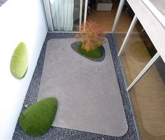 atrium, anyone?  |  Modern landscaping by Vertus via Plastolux