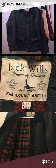 Jack Wills Navy Kendale Wax Jacket w/ vest insert Super warm jacket with removable cotton vest insert. Vest insert looks warn but actual jacket looks brand new! Great for all weather Jack Wills Jackets & Coats Utility Jackets