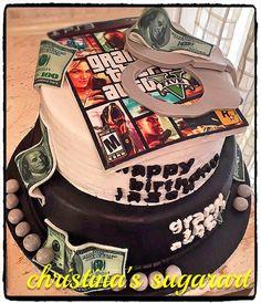 Grand theft auto five cake