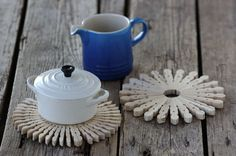 Cute coasters to the dinnertable #diy #kitchen #crafts