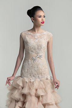 2014 Wedding Gown Trend: Illusion Neckline | www.BridalBook.ph #weddings #brides #gowns #dresses #weddingtrends
