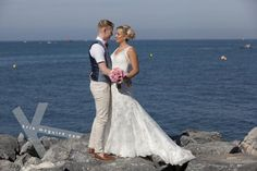by the rocks Group Destination wedding photographer Kris McGuirk. Sunset Beach Club, Benalmadena, Destination Wedding Photographer, Great Photos, Spain, Rocks, Wedding Photography, Weddings, Group