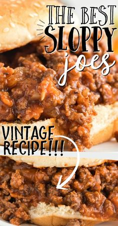 This homemade sloppy joes recipe has all the best parts of the classic recipe we loved as kids: perfectly seasoned meat, a toasted bun and a little messiness with every bite. It's an easy favorite for a party or a quick weeknight dinner. Classic Sloppy Joe Recipe, Classic Recipe, Beef Dishes, Food Dishes, Main Dishes, Side Dishes, Meat Recipes, Cooking Recipes, Recipies