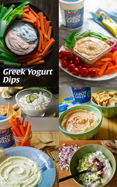 When it comes to summer snacking, I love using Greek Yogurt instead of sour cream or other ingredients for making my dips. Cabot is my go-to for Greek Yogurt Dip inspiration! Yogurt Dip For Veggies, Healthy Yogurt, Healthy Dips, Healthy Eating, Clean Eating, Greek Yogurt Dips, Greek Yogurt Recipes, Siggis Yogurt, Yogurt Popsicles