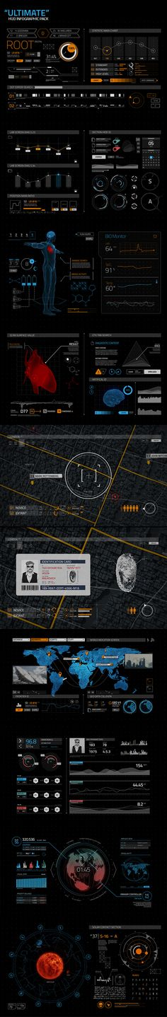 Ultimate HUD on Behance Think of doing a skin integrated health kit