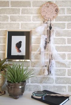 If you aren't good with loops or even with crocheting, you can simply put a lace in your dream catcher. It still has loops where good dreams could easily flow through and down to you.
