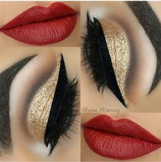 21 Red Lip Makeup Ideas 21 Rote Lippen Make-up Ideen Makeup Goals, Makeup Inspo, Makeup Inspiration, Makeup Tips, Makeup Ideas, Makeup Hacks, Red Lip Makeup, Hair Makeup, Makeup Art