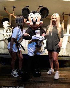 Mouse house: In a more savory outing for the sister, Kourtney and sister Kim, 37, met with Mickey Mouse, based on Kourtney's latest Instagram snap