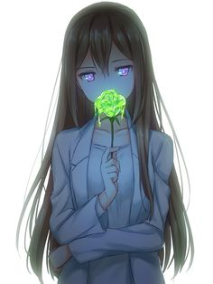Anime girl oh my god a toxic flower that is so freaking cool!