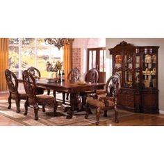 CM3845P-CH-T Furniture of America Tuscany Dining Set Collection Antique Cherry Finish