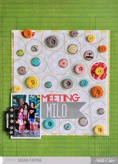 Meeting Milo by Sasha at @Studio Calico ~ Made with Sock Hop Scrapbook Kit (Nov 2012)