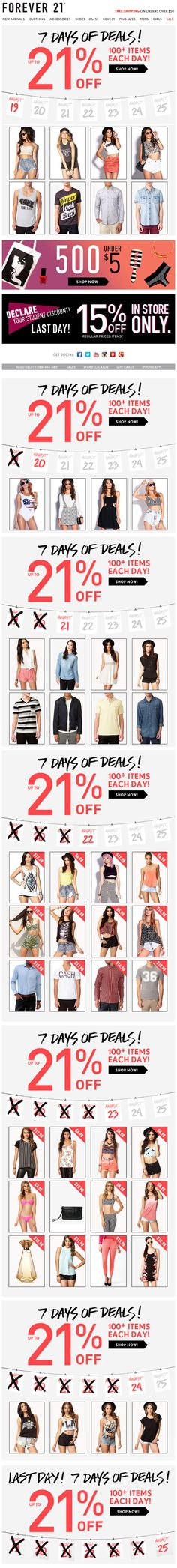 Forever 21 : Days Of Sale