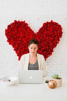 Painel Coração de Frufrus -Senhora Inspiração! Blog