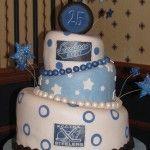 A Hockey Theme Anniversary Cake.